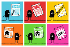 6 karakters - zaken & informatie Stock Afbeelding