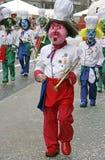 6 karnevalschweizare Arkivfoton