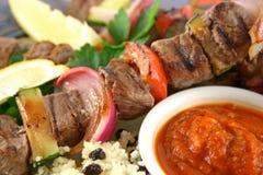 6 kebabs говядины Стоковое фото RF