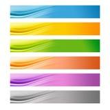 6 kleurrijke banners van het Web Royalty-vrije Stock Foto's