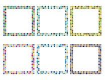 6 kleurrijke frames Stock Afbeeldingen