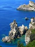 6 klifów Korfu Obraz Royalty Free