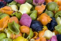 6 kolorów makaronu ricci Zdjęcie Royalty Free