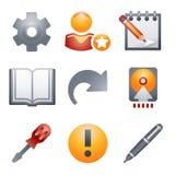 6 koloru ikon strona internetowa Zdjęcia Stock