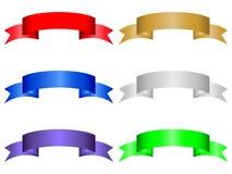 6 koloru sztandarów zestaw Zdjęcie Stock