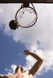 6 koszykówek street Obraz Royalty Free