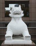 6 lwów rzeźby kamień Fotografia Royalty Free