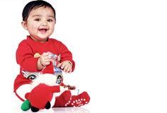 6 månad för 8 spädbarn Arkivfoton