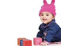 6 månad för 8 spädbarn Arkivfoto
