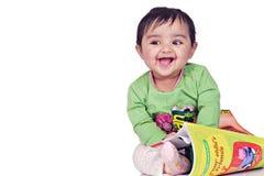 6 månad för 8 spädbarn arkivbilder