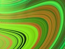 6 mångfärgade wavy för kurvor Arkivfoton