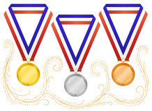 6 médailles illustration stock
