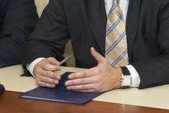 6 mani di affari Immagini Stock Libere da Diritti