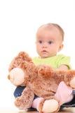 6 meses de bebé Imágenes de archivo libres de regalías
