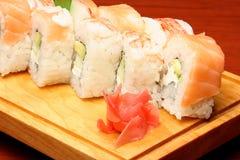 6 mexikanska sushi Royaltyfria Foton