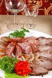 6 mięsnych kiełbas Zdjęcie Royalty Free