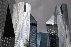 6 moderna byggnader Arkivfoton