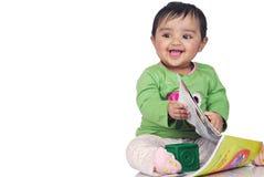 6 mois de 8 enfants en bas âge Image stock