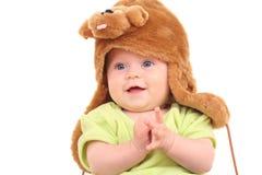 6 mois de bébé dans le chapeau Photos stock