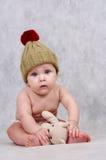 6 MONATE ALTE BABY- Stockbild