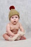 6 MONATE ALTE BABY- Lizenzfreies Stockfoto