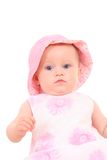 6 months baby girl in hat Stock Photography