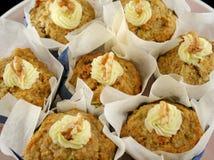 6 muffins καρπού ξύλα καρυδιάς Στοκ Εικόνα