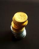 6 mynt royaltyfri fotografi