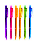 6 Neon Pens stock photos