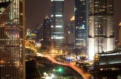 6 noc Shanghai Fotografia Stock