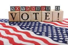 6 nov röstar Arkivbilder
