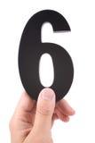 6 numerów Zdjęcie Royalty Free