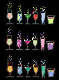 6 per 3 sets cocktails Stock Image
