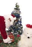 6 prezentów Santas obrazy stock