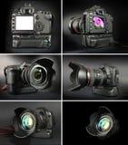 6 professional kamerakamerabilder Royaltyfri Foto