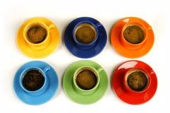 6 Satz-Espresso Lizenzfreie Stockbilder