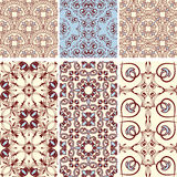 6 seamless  patterns Stock Photography