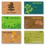 6 set wizytówek zielony set Fotografia Royalty Free
