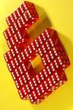 6 sixes Стоковые Изображения