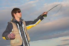 6 som flyfishing Royaltyfri Fotografi
