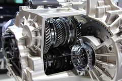 Free 6 Speed Robotic Gearbox. Internals, Gears And Friction Clutches Royalty Free Stock Photo - 140645645