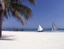 6 strand boracay Royaltyfri Foto