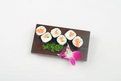 6 sushi Arkivfoton