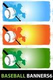 6 sztandarów baseball Ilustracja Wektor