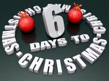 6 Tage zum Weihnachten Lizenzfreie Abbildung