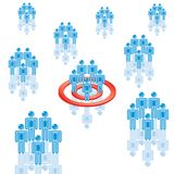 6. Target Market in blue. Rasterized Stock Images