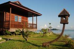 6 tropiska semesterorter Arkivfoton