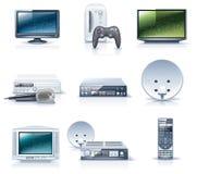 6 urządzeń gospodarstwa domowego ikon część wektor Zdjęcie Royalty Free
