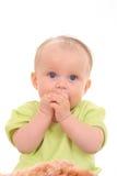 6 van het babymaanden meisje Royalty-vrije Stock Afbeeldingen