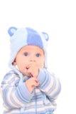 6 van het babymaanden meisje Royalty-vrije Stock Afbeelding